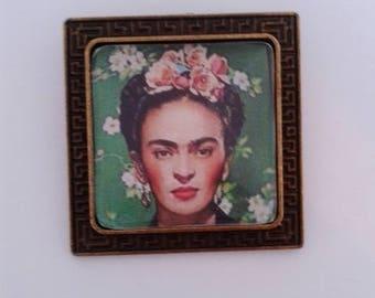 Frida Kahlo Bronze Brooch