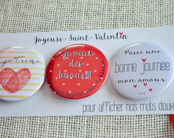 set of 3 magnets in Valentine's day gift