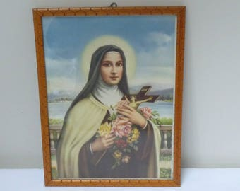 Framed print of Saint Theresa of Lisieux