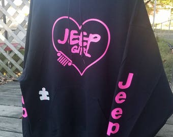 Jeep Girl Unisex Hooded Pullover