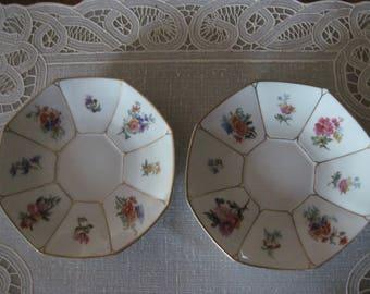 Set of 2 Limoges, France - Wm. Guerin & Co Saucers