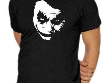 Heath Ledger Joker Face Graphic  Cotton T Shirt Assorted Colours
