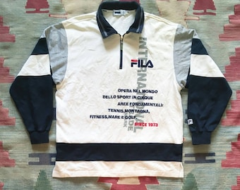 90s FILA Quarter Zip Sweater
