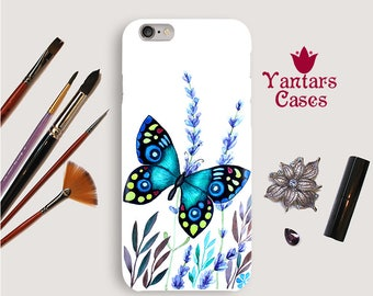 Summer iphone 6 case Butterfly iphone case 7 Butterfly iphone 5s case Grass phone cover SE Watercolor iphone cases 6s Iphone case 8, X Art