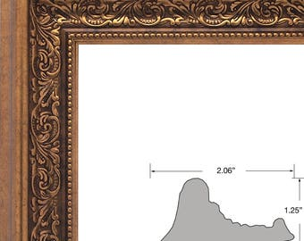 Mr.Z Frames Upscale Contemporary,  1.87 Inch Antique Gold Picture Frame