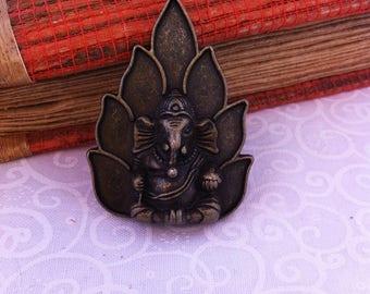 large GANESH pendant, Buddhist elephant, bronze, individually
