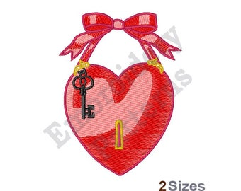 Key To My Heart - Machine Embroidery Design