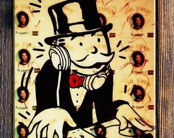 ALEC MONOPOLY  Chronic - Reprod On Paper Archival210m OR Canvas hdprint, Museum Gallery Stretched