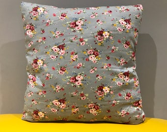 Rose pattern cushion