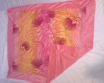 Super soft minky blanket aloha print