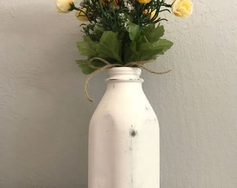 Vintage Milk Bottle Vase