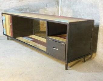 Old Boat steel industrial sideboard alternates wood