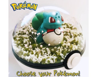 Pokemon Terrarium Pokeball Diorama - Birthday / Easter Gift - Customize Any Pokemon! 100mm