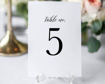 Printable Table Numbers Template, Editable Table Numbers, Wedding Table Numbers, Calligraphy Table Numbers, Editable Wedding Sign KPC04_203