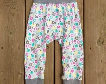 Floral Grow Pants, Grow with Me Pants, Grow Pants, Maxaloon, Pantalon Évolutif, Baby Pants, Toddler Pants, Girls Cotton Pants, Pantalon Bébé