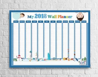 Kids Wall Planner 2018