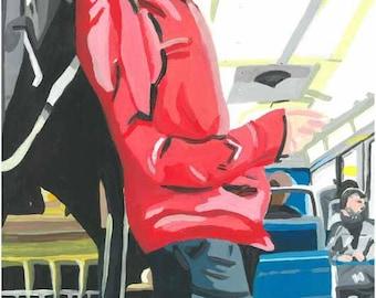Man Ratp Paris subway poster