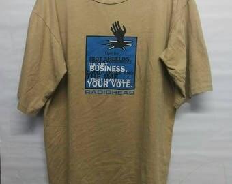 Vintage 90s Radiohead t-shirt L