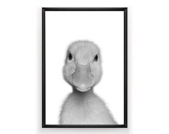 Duckling Print, Nursery Wall Art, Woodland Nursery Decor, Nursery Animal Wall Art, Baby Print Wall Art, Woodland Animals, Nursery Art Print