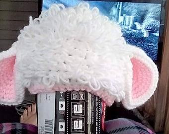 Crocheted Baby Lamb Hat