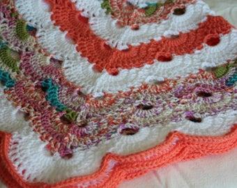 Baby Blanket, Baby Afghan, Crocheted