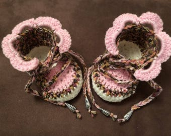 Crocheted Slippers, baby shoes