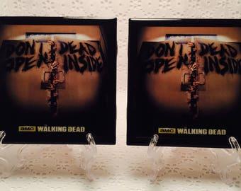 Set of 2/ The Walking Dead Coasters/ TWD