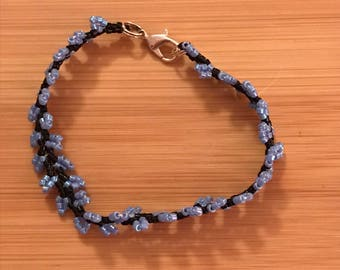 Purple and Black Vine Beaded Bracelet