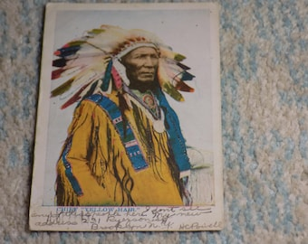 CHIEF Yellow Hair - RPPC - 1906 - Use this coupon code at checkout for 25% off:  NICKZ6151C