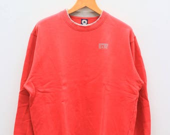 Vintage CONVERSE All Star Chuck Taylor Red Sweater Sweatshirt Size L
