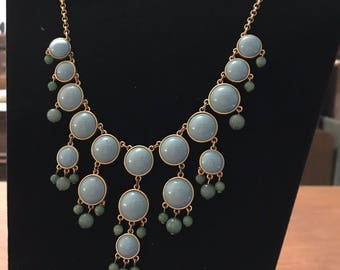 Aqua Colored Dangle Necklace