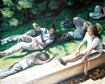 INTERRUPTED NAP - Figurative painting
