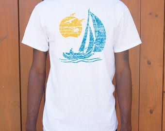 Men High Quality Silk Sailing T-Shirts Shipped Daily all sizes high quality Active