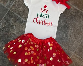 My First Christmas Bodysuit, My First Christmas, First Christmas Bodysuit, Baby's First Christmas, Baby Girl, Baby Boy, Christmas, Bodysuit