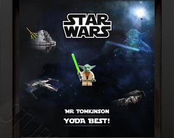 Lego Star Wars Yoda personalised picture frame