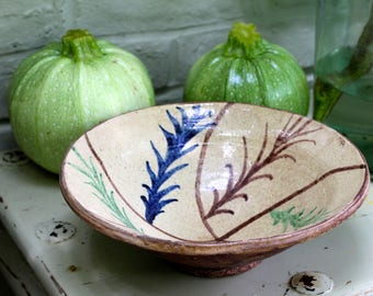 Lovely Vintage Hand Thrown Middle Eastern Pottery Bowl/Earth Tones/Perfect For Salads/Earthenware Bowl/Serving Bowl