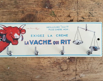 Key holder enamelware (the laughing cow)