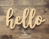 hello Cutout Sign