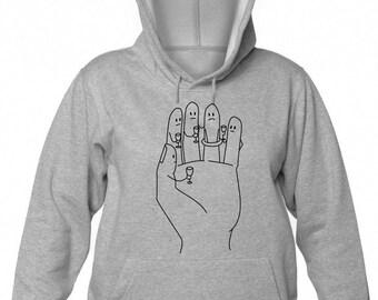 Finger Toast Engagement Ring Fiancee Wedding Women's Hooded Sweatshirt