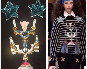 Dolce&Gabbana sequins patch set chandelier