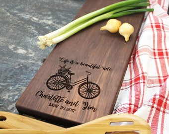 Personalized Cheese Board - Engraved Cheese Board, Custom Cheese Board, Housewarming Gift, Wedding Gift, Engagement Gift, Anniversary (013)