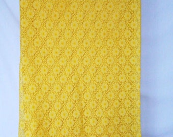 Yellow lace tablecloth