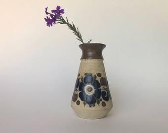 Small Tonala Vase | Flowered Tonala Bud Vase | Mexican Folk Art Vase | Small Bud Vase | Mexican Tonala Pottery