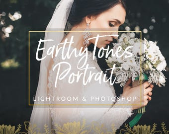Earthy Toned Wedding Lightroom Presets & Photoshop Filters for Photographers