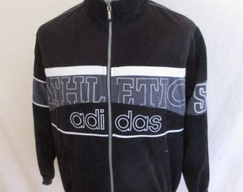 Rare tracksuit complete vintage old school 80s Adidas black size M