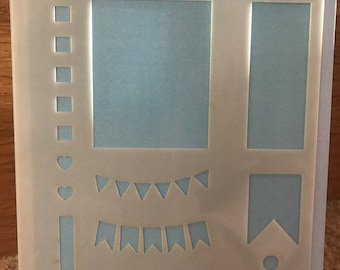 Mama Makes Plantastic Stencil - Boxes, Bullets and Bunting for Planners, Journals, Bujos