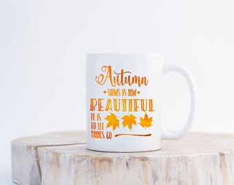 Autumn Coffee Mug, Autumn Coffee Cup,Autumn Leaves Falling Coffee Mug,Autumn Leaves Coffee Cup,Autumn Mug,Fall Coffee Cup,Fall Coffee Mug