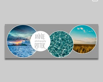 Facebook Timeline Cover Template // Facebook Banner  // Facebook Cover // Instant Download // Photography Marketing // Photoshop Template