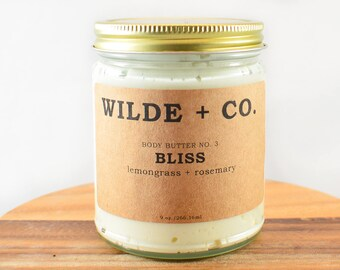 BLISS organic body butter, vegan, whipped body butter, wax free body butter, kokum butter, mango butter, shea butter, coconut oil