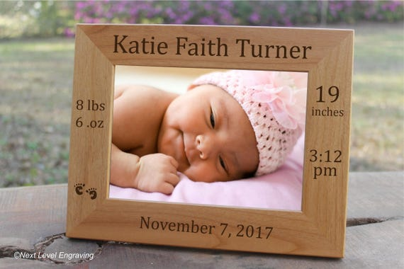 Baby picture frame baby keepsake gift personalized baby stats baby picture frame baby keepsake gift personalized baby stats photo frame new baby gift engraved birth announcement newborn baby girl boy from negle Choice Image
